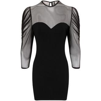 šaty dámské Necessary Evil - Ruched Mesh Lyssa, NECESSARY EVIL
