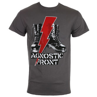 tričko pánské AGNOSTIC FRONT - BLITZ BOOTS - CHARCOAL - RAGEWEAR, RAGEWEAR, Agnostic Front