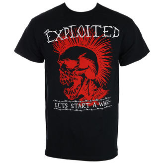 tričko pánské THE EXPLOITED - LET'S START A WAR - Black - RAGEWEAR - 184TSS04