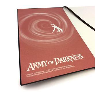 poznámkový blok Army of Darkness
