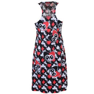 šaty dámské KILLER PANDA - CARD - BLACK/RED
