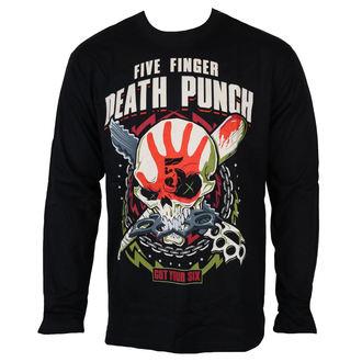 tričko pánské s dlouhým rukávem Five Finger Death Punch - Black - ROCK OFF, ROCK OFF, Five Finger Death Punch
