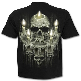 tričko pánské SPIRAL - WAXED SKULL - Black - K045M101