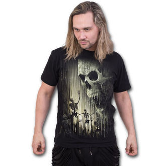 tričko pánské SPIRAL - WAXED SKULL - Black, SPIRAL
