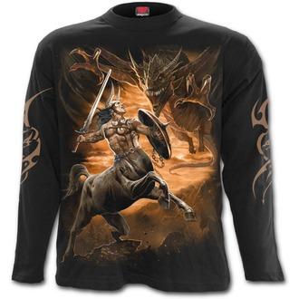 tričko pánské s dlouhým rukávem SPIRAL - CENTAUR SLAYER - Black