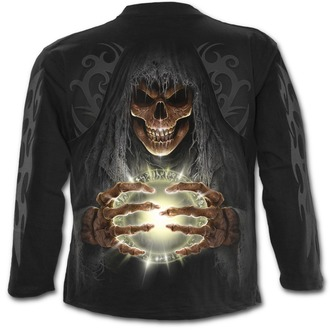 tričko pánské s dlouhým rukávem SPIRAL - DEATH LANTERN - Black - T140M301