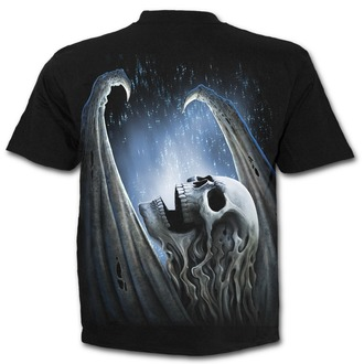 tričko pánské SPIRAL - WINGED SKELTON - Black - T142M101