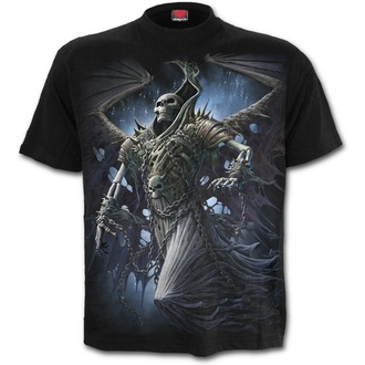 tričko pánské SPIRAL - WINGED SKELTON - Black, SPIRAL