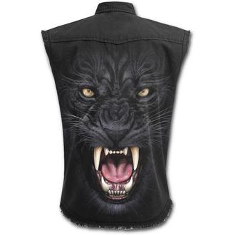 košile pánská bez rukávů SPIRAL - TRIBAL PANTHER - Black