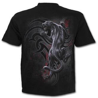 tričko pánské SPIRAL - TRIBAL PANTHER - Black - T143M101