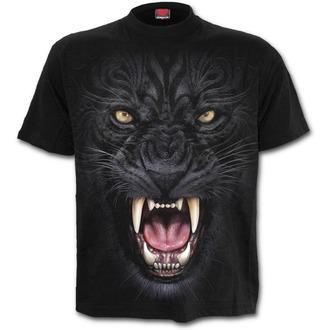 tričko pánské SPIRAL - TRIBAL PANTHER - Black