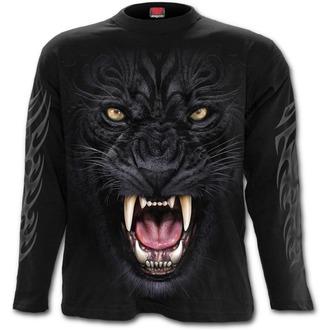 tričko pánské s dlouhým rukávem SPIRAL - TRIBAL PANTHER - Black, SPIRAL