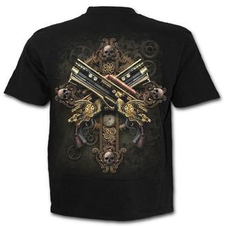 tričko pánské SPIRAL - STEAMPUNK SKELETON - Black