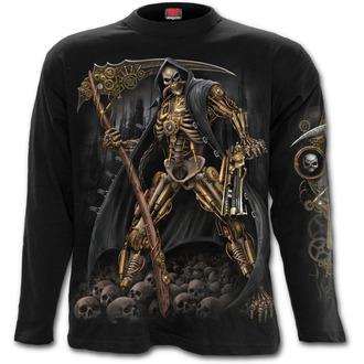 tričko pánské s dlouhým rukávem SPIRAL - STEAMPUNK SKELETON - Black, SPIRAL