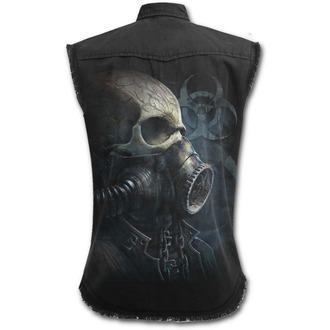 košile pánská bez rukávů SPIRAL - BIO-SKULL - Black - M024M602