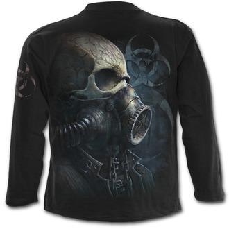 tričko pánské s dlouhým rukávem SPIRAL - BIO-SKULL - Black - M024M301