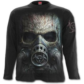 tričko pánské s dlouhým rukávem SPIRAL - BIO-SKULL - Black, SPIRAL