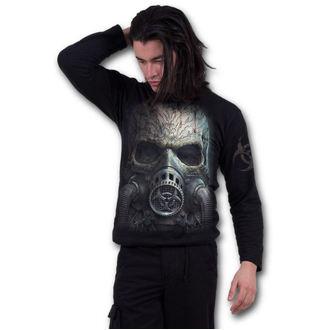 tričko pánské s dlouhým rukávem SPIRAL - BIO-SKULL - Black