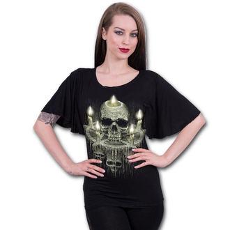 tričko dámské SPIRAL - WAXED SKULL - Black, SPIRAL