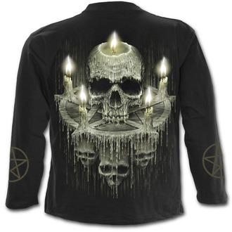 tričko pánské s dlouhým rukávem SPIRAL - WAXED SKULL - Black, SPIRAL