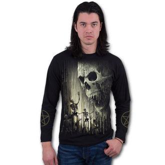 tričko pánské s dlouhým rukávem SPIRAL - WAXED SKULL - Black - K045M301