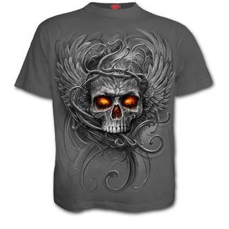 tričko pánské SPIRAL - ROOTS OF HELL - Charcoal, SPIRAL