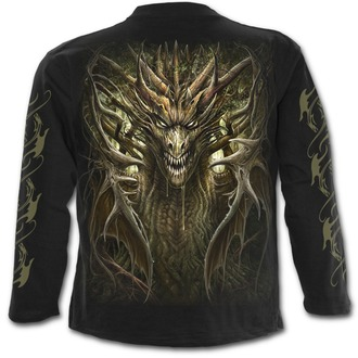 tričko pánské s dlouhým rukávem SPIRAL - DRAGON FOREST - Black, SPIRAL