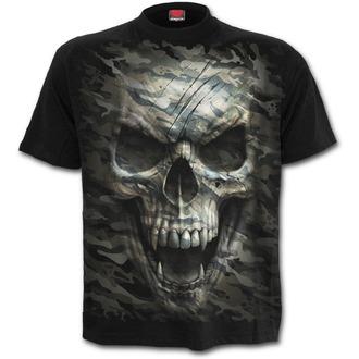 tričko pánské SPIRAL - CAMO-SKULL - Black, SPIRAL