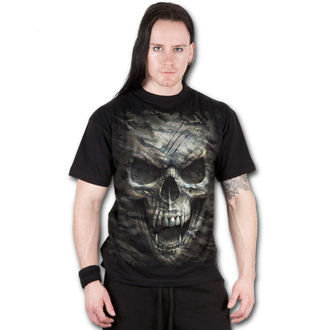 tričko pánské SPIRAL - CAMO-SKULL - Black