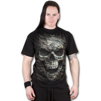 tričko pánské SPIRAL - CAMO-SKULL - Black - T141M101