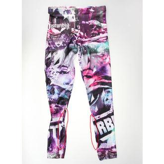 kalhoty dámské (leginy) DISTURBIA - Hollywood Babylon - POŠKOZENÉ, DISTURBIA