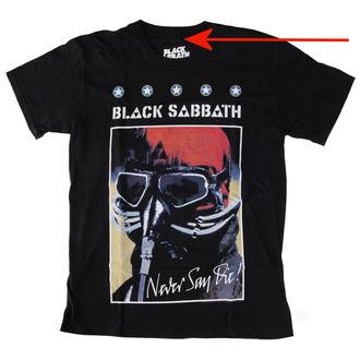 tričko pánské Black Sabbath - Never Say Day Poster - LIVE NATION - POŠKOZENÉ, LIVE NATION