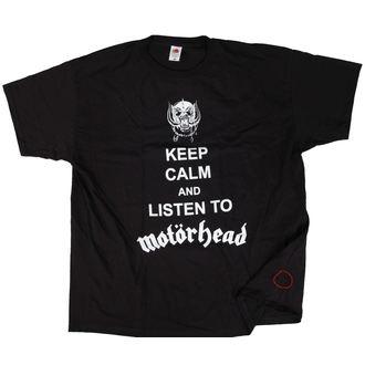 tričko pánské Motörhead - Keep Calm - Black - ROCK OFF - POŠKOZENÉ, ROCK OFF, Motörhead