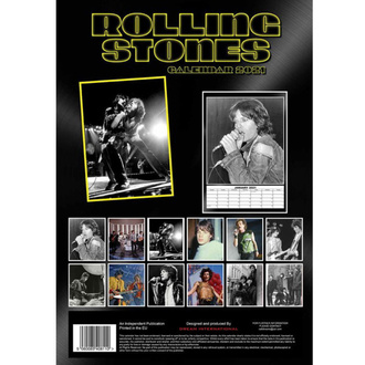 kalendář na rok 2021 - Rolling Stones, NNM, Rolling Stones