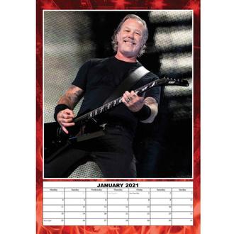 kalendář na rok 2021 - Metallica, NNM, Metallica