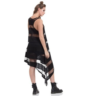 šaty dámské JAWBREAKER - Skull Striped, JAWBREAKER