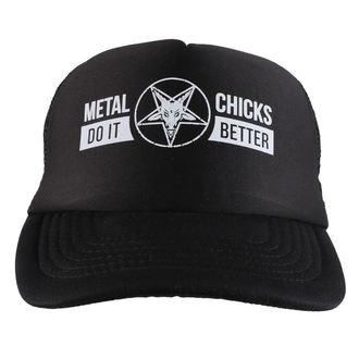 kšiltovka METAL CHICKS DO IT BETTER - Baphomet - Logo - Black