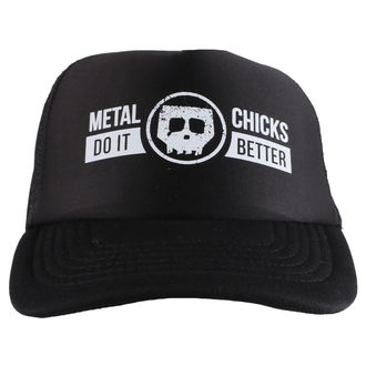 kšiltovka METAL CHICKS DO IT BETTER - Skull - Logo - Black, METAL CHICKS DO IT BETTER