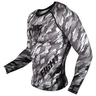 tričko pánské s dlouhým rukávem (termo) Venum - Tecmo Rashguard - Black/Grey, VENUM