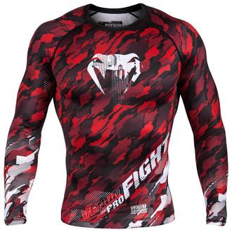 tričko pánské s dlouhým rukávem (termo) Venum - Tecmo Rashguard - Red/White - VENUM-03139-425