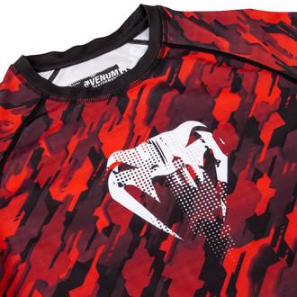 tričko pánské s dlouhým rukávem (termo) Venum - Tecmo Rashguard - Red/White