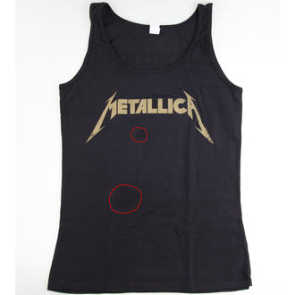 tílko dámské Metallica - Hetfield Iron Cross Guitar - Black - POŠKOZENÉ, Metallica