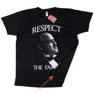 tričko pánské Kmotr - Respect The Family - Black - HYBRIS - POŠKOZENÉ