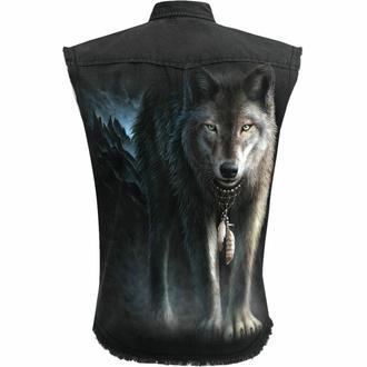 košile pánská bez rukávů (vesta) SPIRAL - FROM DARKNESS - Black, SPIRAL