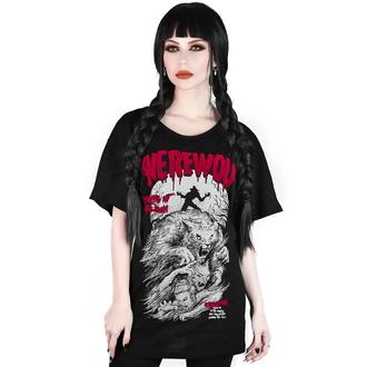 tričko dámské KILLSTAR - Werewolf Relaxed - BLACK - KSRA001856