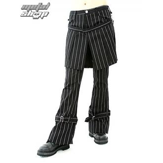 kalhoty dámské Aderlass - Skirt Pants Pin Stripe (Black-White), ADERLASS