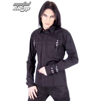 košile pánská Aderlass - Lock Shirt Fine Denim Black - A-3-55-001-00