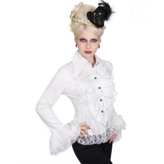 košile dámská Aderlass - Riffle Blouse Fine Denim (White), ADERLASS