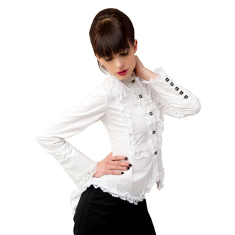 halenka dámská Aderlass - Wing Blouse Fine Denim White, ADERLASS