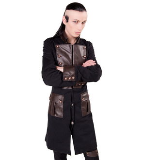 kabát pánský Aderlass - Steam Punk Coat Denim Black-Brown, ADERLASS